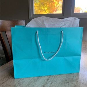 Tiffany and co gift bag with wrap